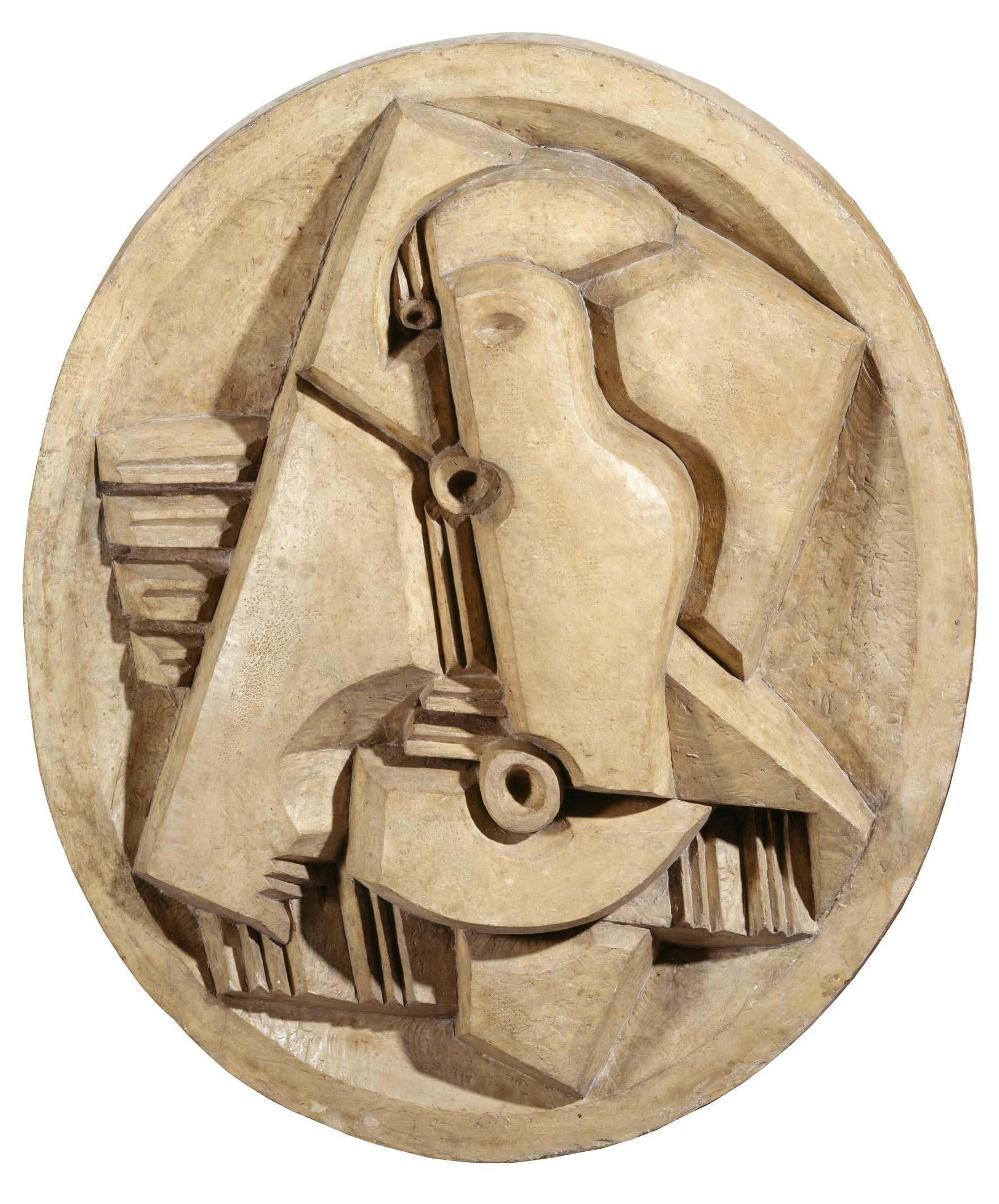 Jacques Lipchitz - Harlequin with Mandoline in Oval