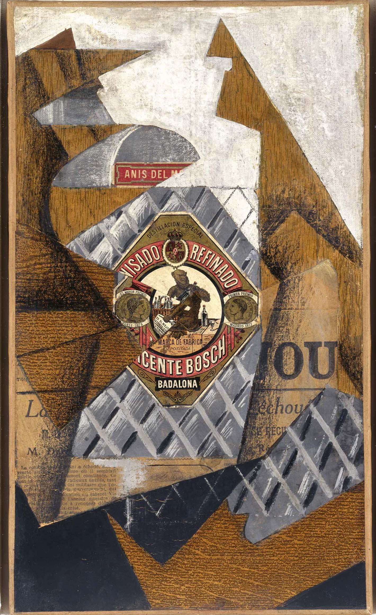 juan gris josé victoriano gonzález pérez la bouteille d anis