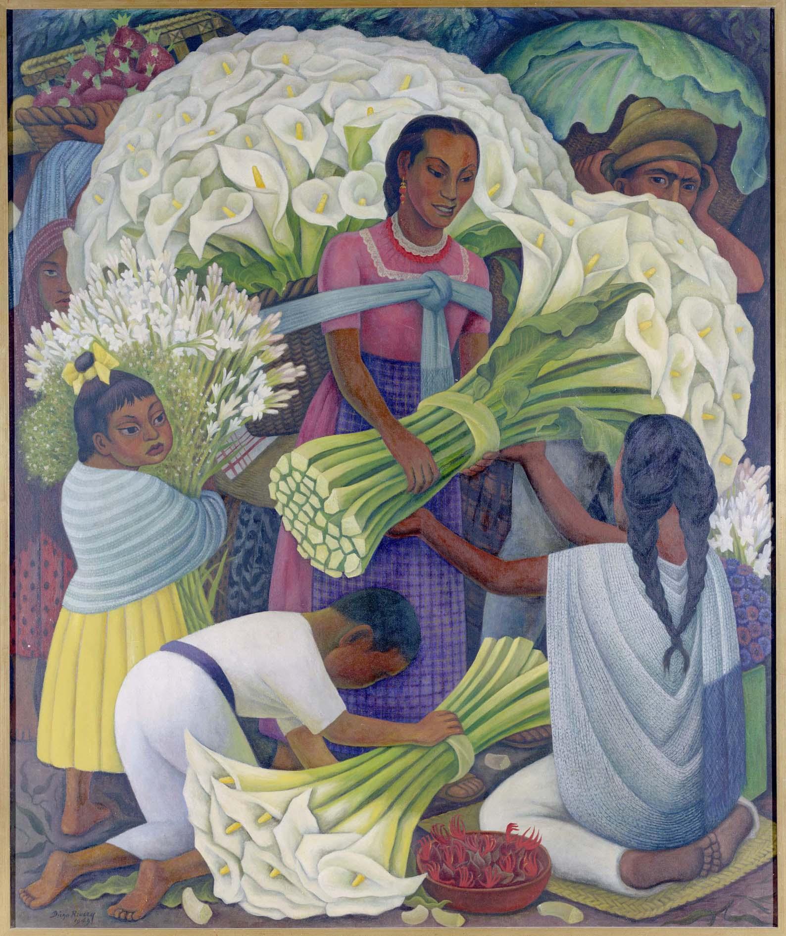 Diego Rivera - Vendedora de flores