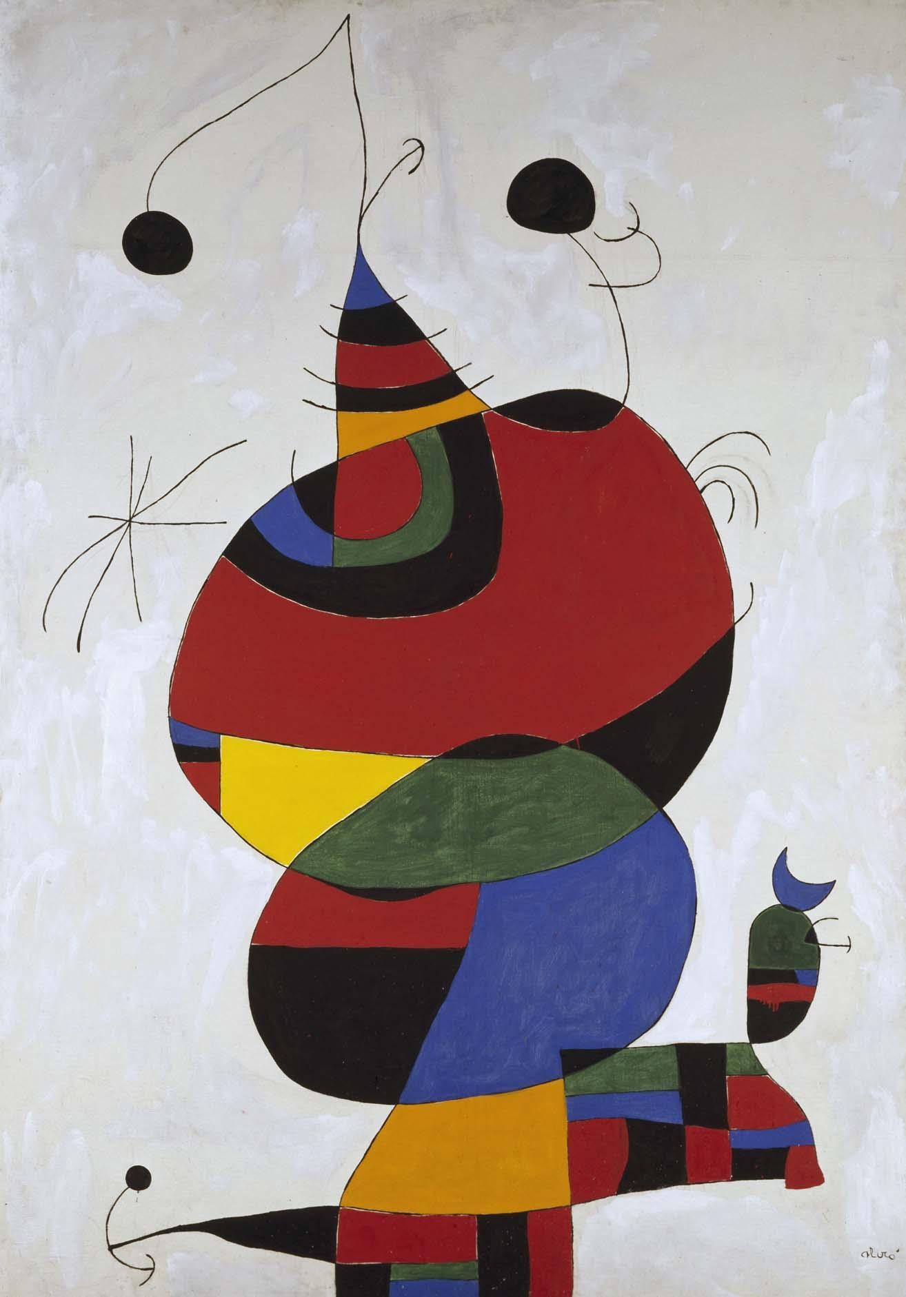 Joan Miró - Femme, oiseau, étoile (Homenatge a Pablo Picasso) (Mujer ...
