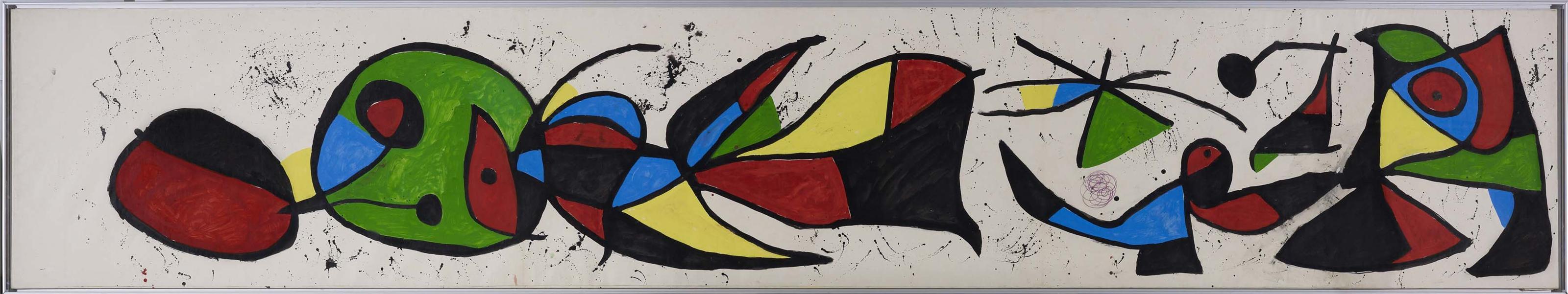 Joan Miró - Boceto para mural en el Palacio de Congresos