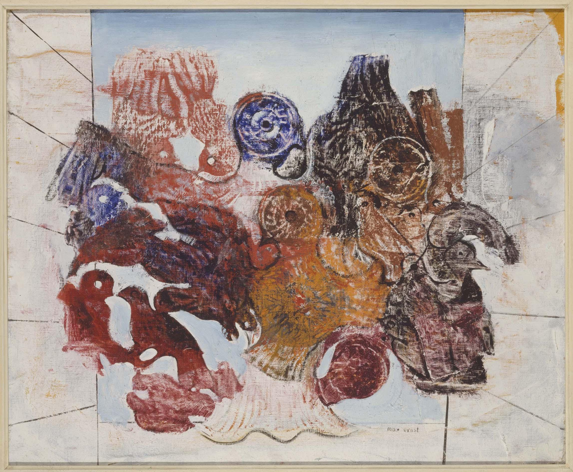 Max Ernst Oiseaux Rouges Red Birds