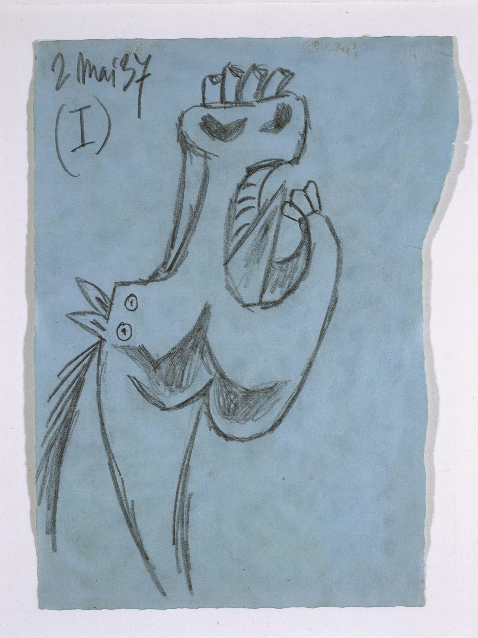 Pablo Picasso Pablo Ruiz Picasso  Estudio para la cabeza de