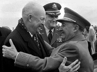 Francisco Franco and Dwight D. Eisenhower in official visit, Madrid, 1959