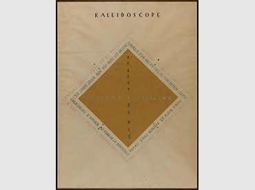 Vicente Huidobro. Kaleidoscope. Drawing, 1921