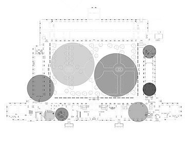 Sabatini Building floorplan indicating the different sound interventions