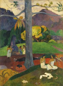 Paul Gauguin. Mata Mua (In Olden Times), 1892. Oil on canvas. Carmen Thyssen-Bornemisza Collection on deposit at Museo Thyssen-Bornemisza, Madrid