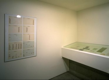 Exhibition view. ZAJ, 1996