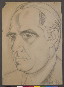 Daniel Vázquez Díaz. Eugenio D'Ors, 1926. Drawing. Museo Nacional Centro de Arte Reina Sofía Collection, Madrid