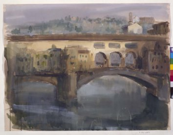 Ramón Gaya. Ponte Vecchio, 1962. Drawing. Museo Nacional Centro de Arte Reina Sofía Collection, Madrid
