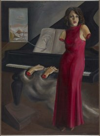 Óscar Domínguez. Retrato de la pianista Roma (Portrait of the Pianist Roma), 1933. Painting. On loan