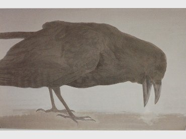 Elly Strik. Hijgende Kraai (Panting Crow), 1992. Oil, lacquer on paper. 201 x 319 cm. Collection Van AbbeMuseum, Eindhoven