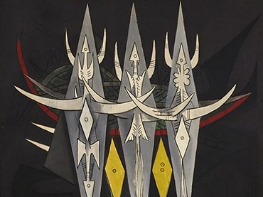 Wifredo Lam. Umbral (detail), 1950. Centre Pompidou, Musée national d'art moderne, Paris, State adquisition, 1969 © Archivo SDO Wifredo Lam