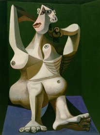 Pablo Picasso. <em>Woman Dressing Her Hair</em>, Royan, June 1940. Oil on canvas. New York, Museum of Modern Art (MoMA). Louis Reinhardt Smith Bequest, 1995. © 2017. Digital image, The Museum of Modern Art, New York/ Scala Florence. © Sucessión Pablo Picasso, VEGAP, Madrid, 2017