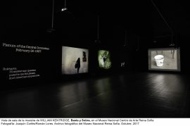 Vista de sala de la exposición Basta y sobra, de William Kentridge.