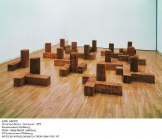 Carl Andre. Uncarved blocks (Bloques sin tallar), (1975).