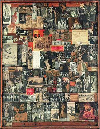Bruce Conner. UNTITLED. Collage, 1954-1961. Colección Walker Art Center, Mineápolis. © 2017 Conner Family Trust/Artists Rights Society (ARS, New York/VEGAP, Madrid).  Cortesía Walker Art Center, Mineápolis
