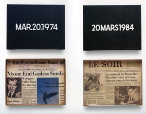 Marcel Broodthaers. Carte du Monde Poétique, 1968On Kawara. Date paintings, 1974 - 1984