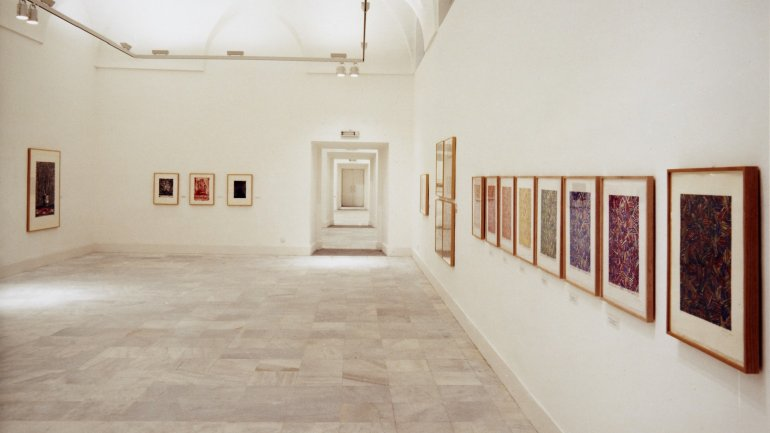 Exhibition view. Jasper Johns. Obra gráfica (1960-1985), 1987