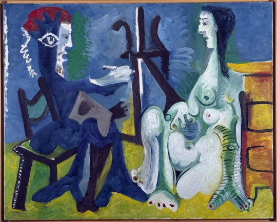 Pablo Picasso. El pintor y la modelo (The Painter and The Model), 1963. Painting. Museo Nacional Centro de Arte Reina Sofía Collection, Madrid