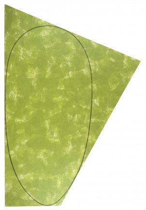 Robert Mangold. Irregular green area with a drawn ellipse, 1985-86. Painting. Museo Nacional Centro de Arte Reina Sofía Collection, Madrid