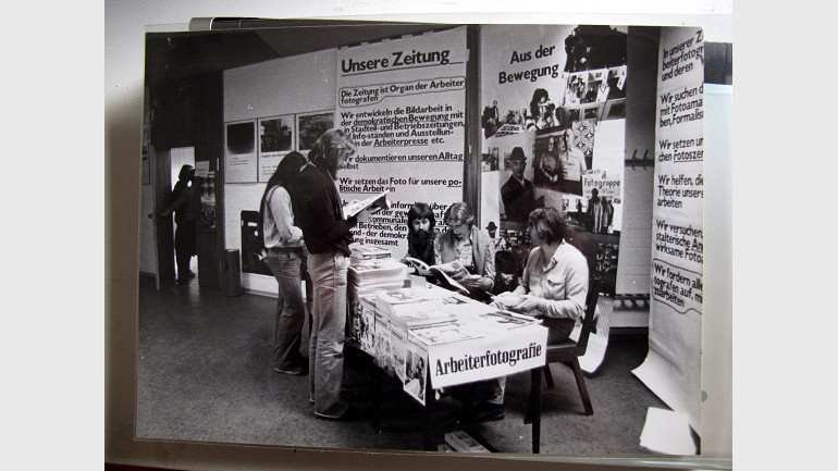 Wilhelm Körner. Exhibition of the magazine Arbeiterfotografie, ca. 1979. Photograph, 18 x 24 cm. Donated by the artist. Research Centre and Library, Museo Nacional Centro de Arte Reina Sofía