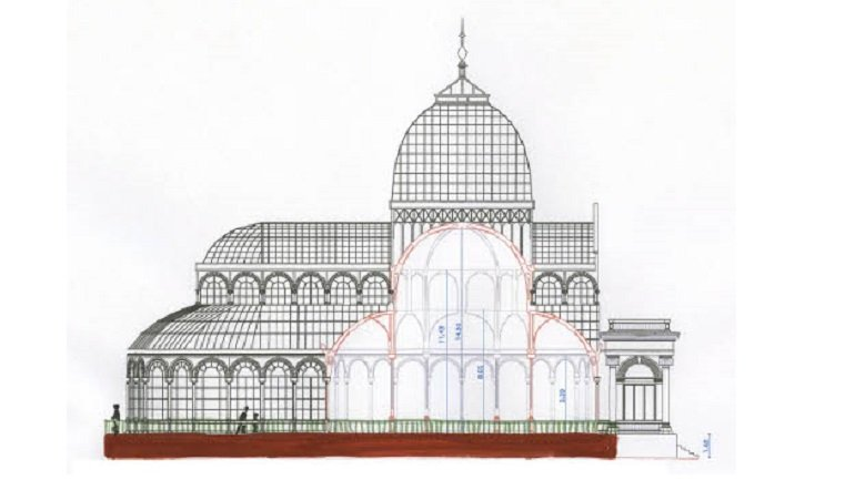 Roman Ondák. Sketch for Scene, Palacio de Cristal, Madrid, 2013