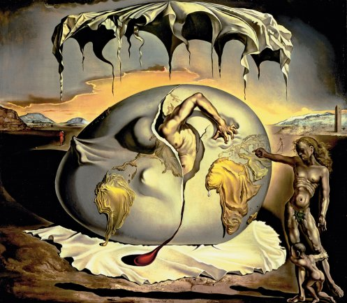 Salvador Dalí. Geopoliticus Child Watching the Birth of the New Man, 1943. Salvador Dalí Museum, Saint Petersburg, Florida