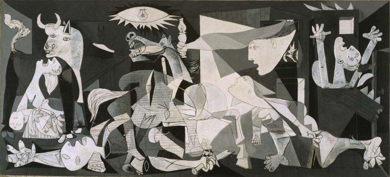 Pablo Picasso. Guernica, 1937. Colección Museo Nacional Centro de Arte Reina Sofía © Sucesión Pablo Picasso, VEGAP, Madrid, 2017