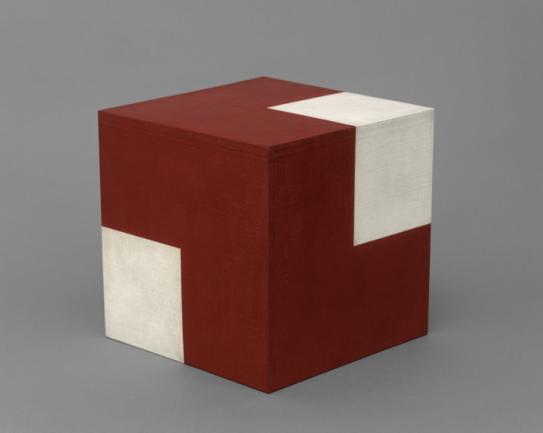 Willys de Castro. Objeto ativo (cubo vermelho/branco), 1962. Colección Patricia Phelps de Cisneros