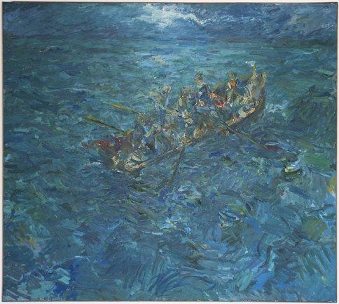 Miguel Ángel Campano, Naufragio, 1983. Óleo sobre lienzo, 200 x 220 cm. Colección particular. © VEGAP, Madrid, 2013