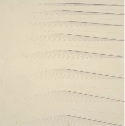 Mohamedi, Nasreen. Untitled, Ca. 1970. Ink and graphite on paper, 18,9 x 18,9 cm. KIRAN NADAR MUSEUM OF ART