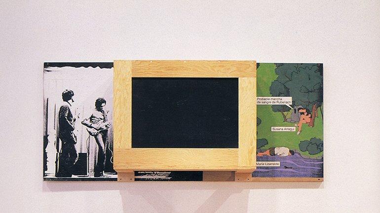 Txomin Badiola. Bañiland 6, 1990-1992. Pintura, madera, construcción, plástico y serigrafía. Colección A. Trullenque