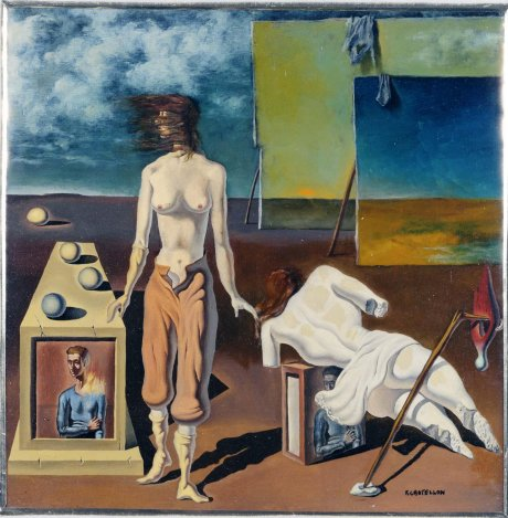 Surrealist Landscape with Nude and Landscape (Paisaje surrealista con desnudo y paisaje)