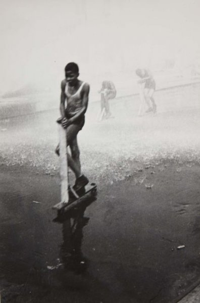 New York, 1940 (Kids Playing in Fire Hydrant, New York)
