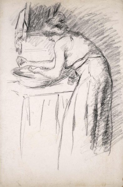 Femme se lavant les mains (Woman Washing Her Hands)