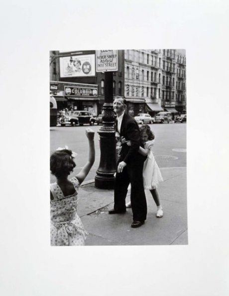 New York, 1942 (Man and Girls on Columbus Avenue)