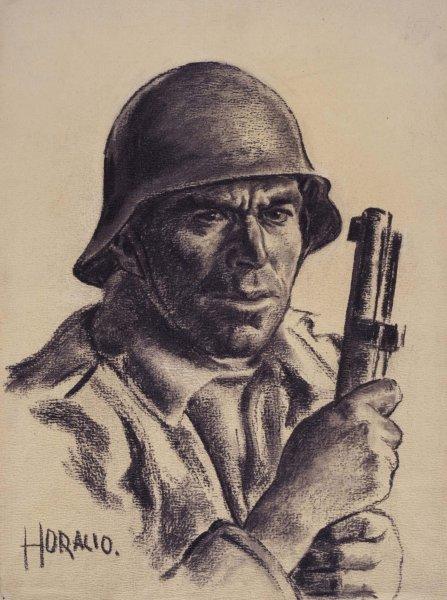 Baena, miliciano de la FAI (Federación Anarquista Ibérica) (Baena, FAI Militiaman [Iberian Anarchist Federation])
