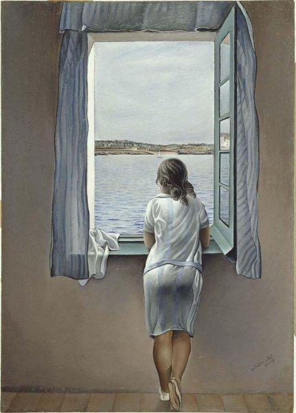 Figura en una finestra (Figura en una ventana) - Dali 1925 - Museo Reina Sofía