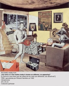 Richard Hamilton, Just what ist that makes today's homes so different so appealing?, 1956, reproducida por Richard Hamilton en 1992