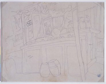 "Boceto para «Mañana de verbena o El Pim, Pam, Pum» (El bar) (Sketch for ""Morning at the Fair or Pim, Pam, Pum"" [The Bar])"