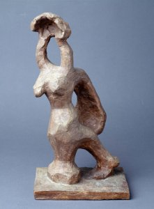 Woman Leaning on a Column. Maquette 2