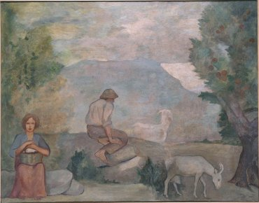Pastores (Mural de la casa del Barón de Rialp) (Shepherds [Mural of the Baron of Rialp's House])