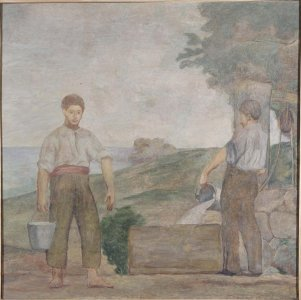 Aguadores (Mural de la casa del Barón de Rialp) (Water Carriers [Mural of the Baron of Rialp's House])