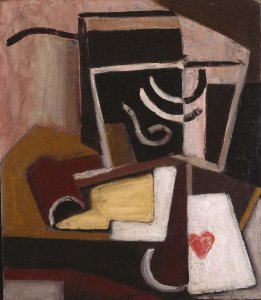 Bodegón cubista con pipa y naipe (Cubist Still Life with Pipe and Card)