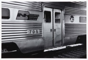 Burlington Northern Railroad. Chicago Regional Transportation Authority, Chicago, Illinois