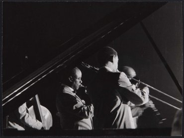 Louis Armstrong, Trummy Young, Arvell Shaw y Edmond Hall, Windsor Palace, Barcelona (Louis Armstrong, Trummy Young, Arvell Shaw and Edmond Hall, Windsor Palace, Barcelona)