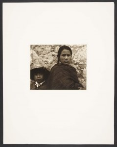 Young Woman and Boy-Toluca (Mujer joven y chico-Toluca)