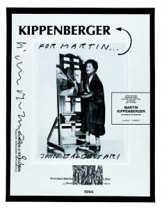 Martin Kippenberger. Pictures of an Exhibition. Metro Pictures. New York. 22 January-19 February. 1994 (Martin Kippenberger. Cuadros de una exposición. Metro Pictures. Nueva York. 22 de enero-19 de febrero. 1994)