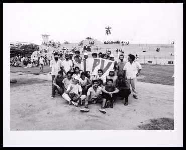 "Collective Performance ""Young Artists Take Up Baseball"", performed on 24 September 1989 at Círculo Social Obrero José Antonio Echevarría, Havana, Cuba"